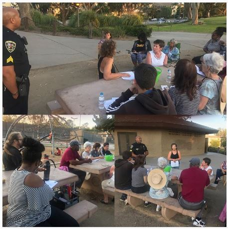 Neighborhood Watch Meeting at Fox Hills Park with CCPD on 8/1/2018
