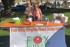 """Our booth at """"National Night Out"""" with CCPD  8/7/2018"""